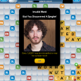 I expected 45 points, but instead I found this: The picture is of Michael Lazer Walker, developer of Words With Friends.You'll only see it if you're playing the Facebook version...